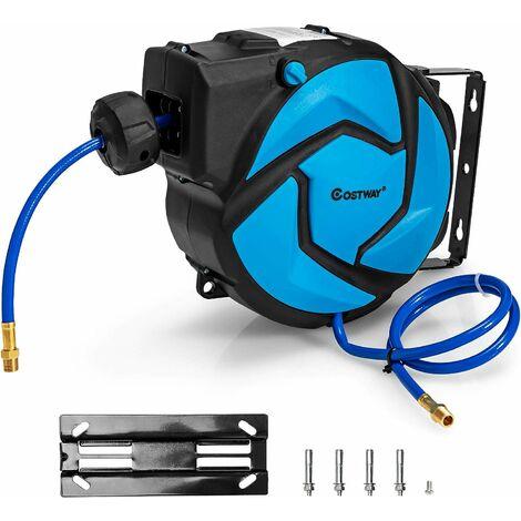 """main image of """"COSTWAY Druckluftschlauch Schlauchtrommel Luft Schlauchaufroller automatisch, Schlauchbox 180° Schwenkbar / 20,7bar / 300PSI / 13,5m+93cm / zur Wandmontage"""""""