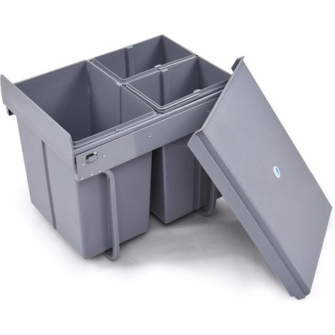 COSTWAY Einbaueimer Abfallsammler Küchen Abfalleimer ...