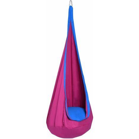 COSTWAY Enfants Chaise hamac suspendue siège balançoire crochet intérieur/extérieur