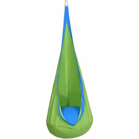 COSTWAY Enfants Chaise hamac suspendue siège balan?oire crochet intérieur/extérieur