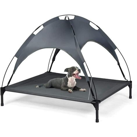 """main image of """"COSTWAY Exlarge Raised Dog Bed Puppy Pet Cot Elevated Tent Removeable Canopy Waterproof"""""""