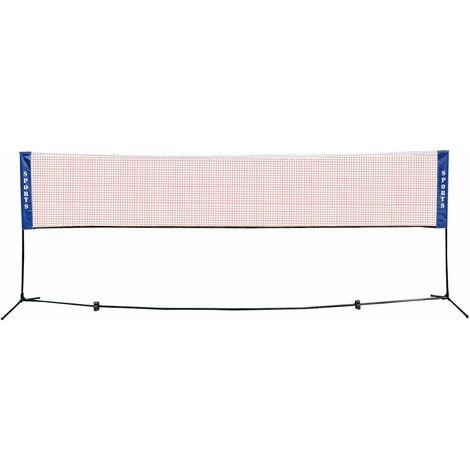 COSTWAY Filet de Badminton Transportable 420x155cm Filet de Tennis Volley Hauteur Réglable Net Portable pour Sport Extérieur Intérieur