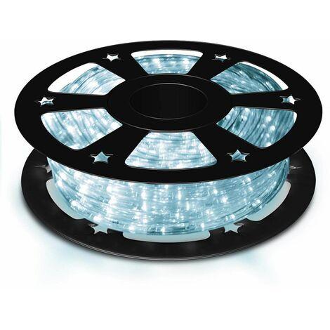 COSTWAY Guirlande Lumineuses Ruban Tube LED 20m,720 Ampoules Décoration Intérieur/Extérieur pour Salle, Jardin, Noël, Mariage Blanc Froid