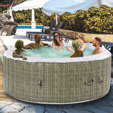 COSTWAY Jacuzzi Spa Gonflable Rond 6 Personnes