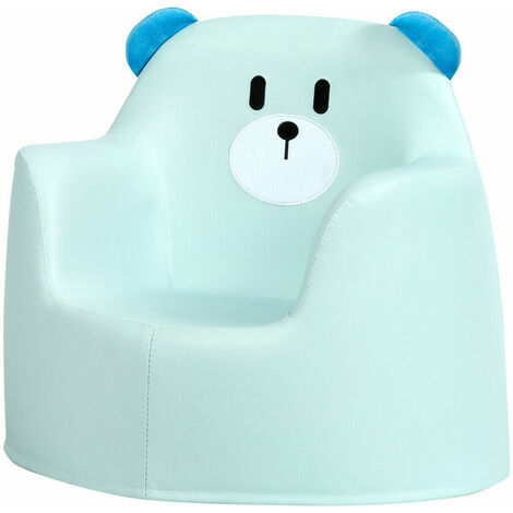 """main image of """"COSTWAY Kids Sofa, Bear Cartoon Armchair with Integrated Foam and PU Surface, Children Chair"""""""