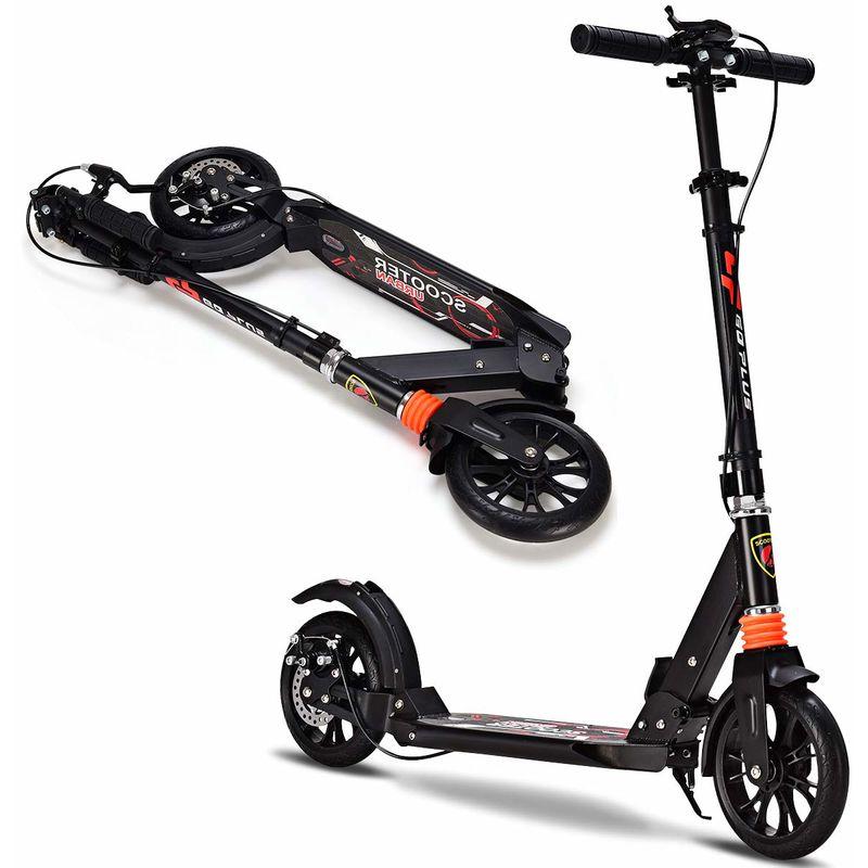 costway klappbarer scooter roller tretroller hoehenverstellbar cityroller mit 2 raeder. Black Bedroom Furniture Sets. Home Design Ideas