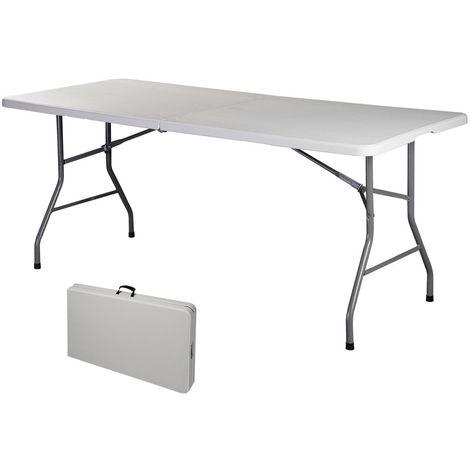 COSTWAY Klapptisch Campingtisch Falttisch Gartentisch Koffertisch Biertisch Esstisch Balkontisch Tisch klappbar L