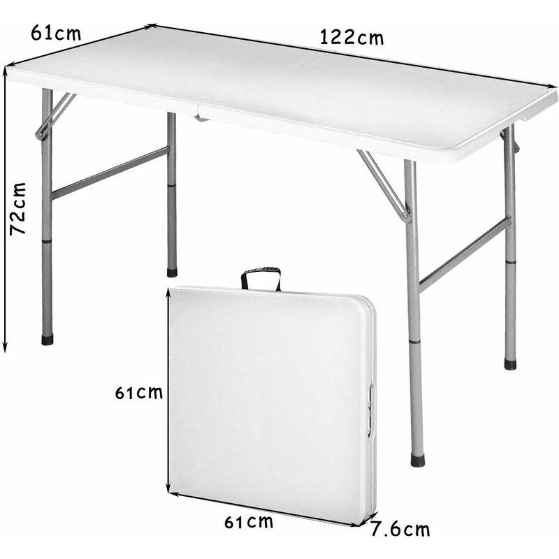 Aluminium Camping Tisch klappbar Gartentisch Koffertisch faltbar wetterfest