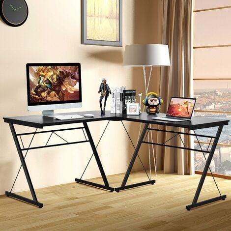 COSTWAY L-Form Computertisch Schreibtisch Computerschreibtisch Buerotisch Ecktisch Eckschreibtisch Winkelschreibtisch 150x150x76cm