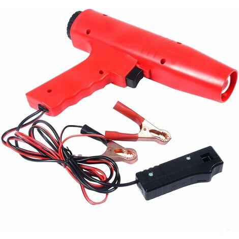 COSTWAY Lampe Stroboscopique Xénon 12 V Timing Light Pistolet Inductive Allumage Professionnel 12 V Timing Light pour Voiture Moto
