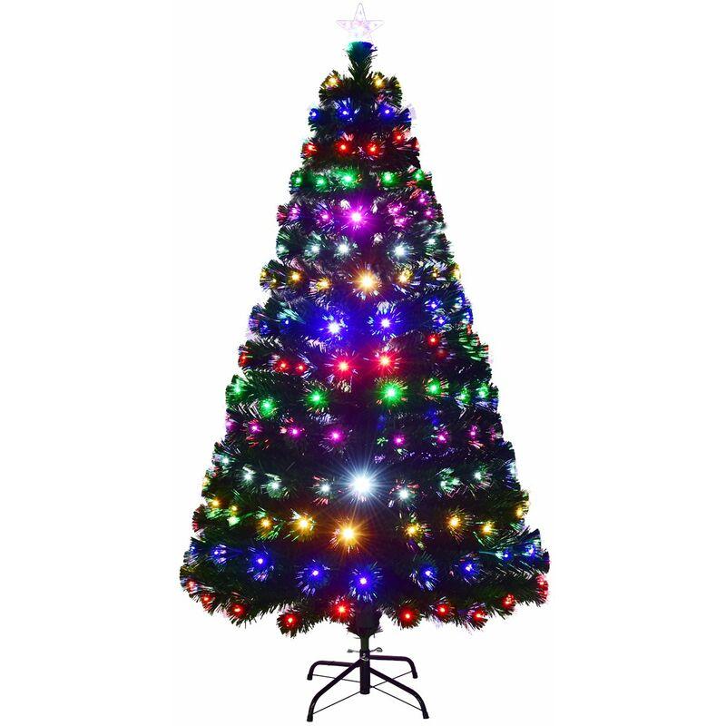 Tannenbaum Grün.Costway Led Weihnachtsbaum Kuenstlicher Tannenbaum Christbaum Beleuchtet 210cm Gruen Mit Glasfaser Farbwechsel