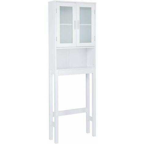 """main image of """"COSTWAY Meuble dessus toilettes WC 2 portes Armoire de toilette ?tagère de salle de bain"""""""