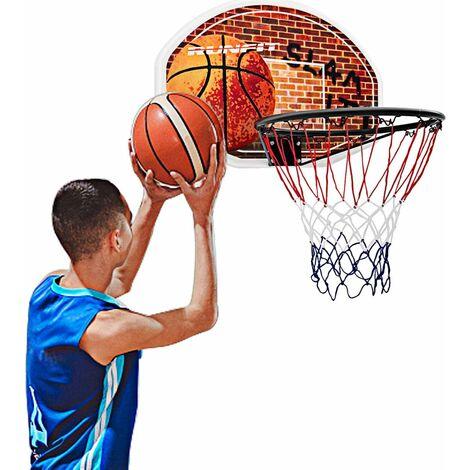 COSTWAY Mini Panier de Basket Mural 73,5 x 51CM Panneau Φ42CM et Filet en Nylon Fixer en Suspension pour Jouer de Loisir Chambre
