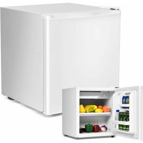 COSTWAY Mini Réfrigérateur Silencieux 48L Table Top Intégrable Classe A+ Blanc 47 x 45 x 50 cm (L x l x H) pour Chambre ou Hôtel