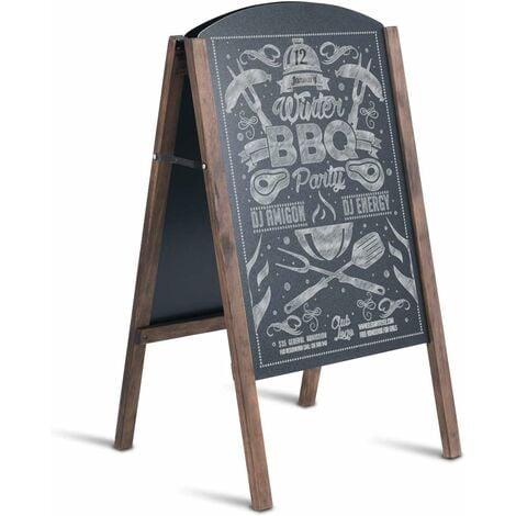 COSTWAY Panneau Publicitaire Panneau de Trottoir Porte-Affiche sur Pied pour Restaurants Tableau de Menu 45 x 41 x 80 cm
