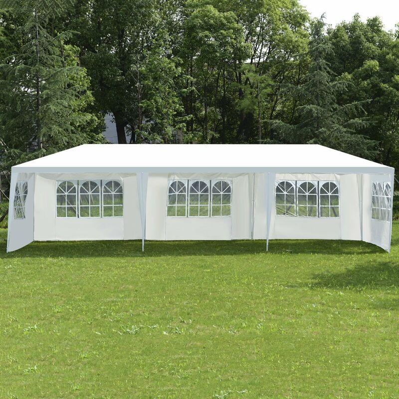 3x3m Festzelt Gartenzelt PE Pavillon Hochzeit Partyzelt Vereinszelt