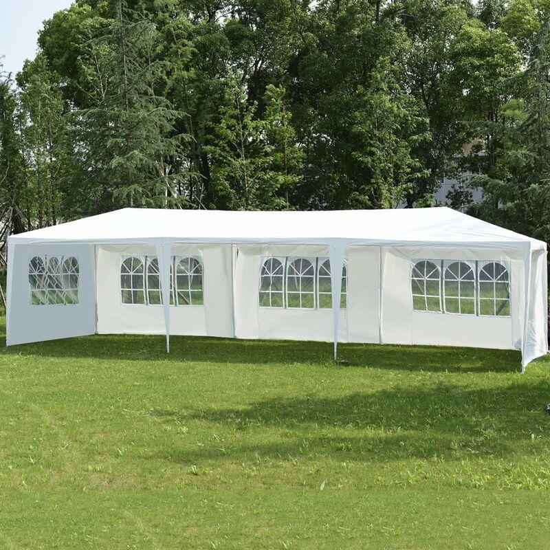 3x3m Pavillon Festzelt Partyzelt Garten Zelt Fest Bierzelt mit Seitenteile Hochz