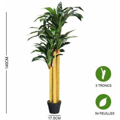 Hauteur 170 cm PEGANE Plante Artificielle Palmier Tropical
