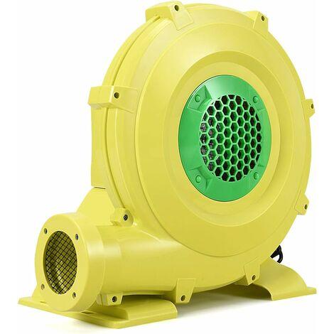 COSTWAY Pompe Gonflable de Ventilateur Electrique avec Moteur 680W en Cuivre et Cage en PP pour Château Gonflable et Arches Gonflable Jaune