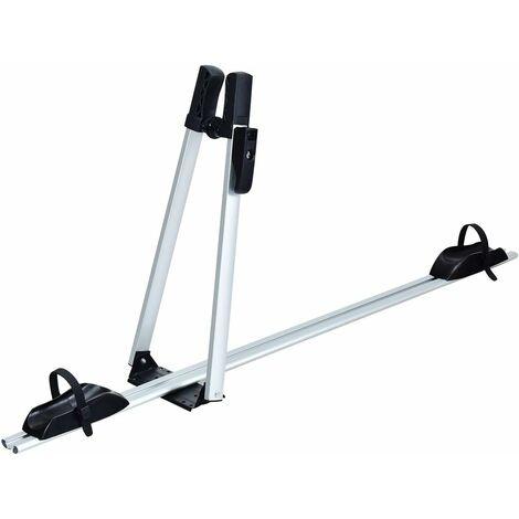 COSTWAY Porte Vélo pour Barre de Toit en Aluminium Antirouille pour 1 Vélo Anti-vol et Fixe 2 en 1 Structure Triangulaire Sangle Réglage