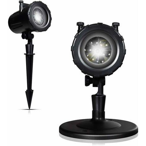 COSTWAY Projecteur de Neige de Noël LED Chutes de Neige Extérieures avec 12 Motifs Tête Rotative à 160°pour Décorations de Noël, Halloween Étanche IP44