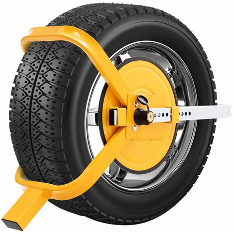 COSTWAY Radkralle Parkkralle Wegfahrsperre Reifenkralle Diebstahlsicherung Radsicherung Auto Pkw Anhaenger 13-15 Zoll