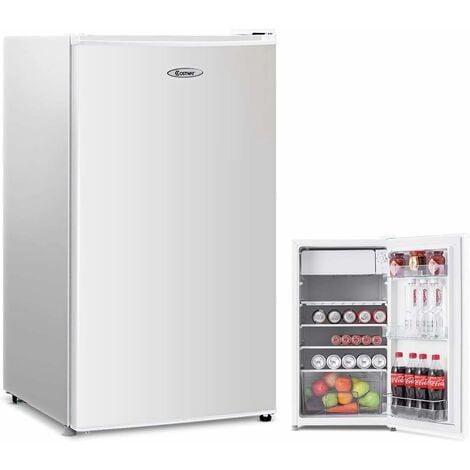 COSTWAY Réfrigérateur Table Top Intégrable 91 L - Mini-bar Réfrigérateur 45x49x84cm.(LxPxH)