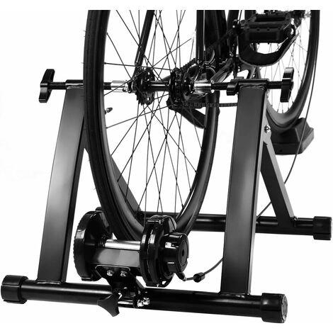 COSTWAY Rollentrainer aus Stahl, Cycletrainer klappbar, Fahrrad Heimtrainer fuer Indoor Fahrradtraining, Fahrradtrainer bis zu 150 KG belastbar schwarz