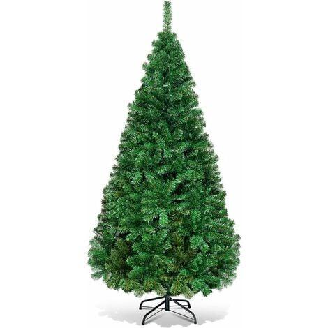 """main image of """"COSTWAY Sapin de Noël, Arbre de Noël Artificiel pour Décoration de Noël Matériau PVC avec Pied en Métal 240cm,1138 Branches/210cm,950 Branches/180cm,658 Branches/150cm,350 Branches"""""""
