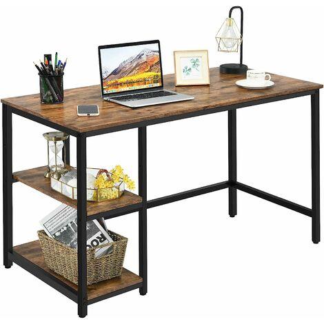COSTWAY Schreibtisch Industrie Design, Computertisch mit Regal, Buerotisch PC-Tisch Arbeitstisch fuers Buero, Arbeitszimmer, Wohnzimmer 120x60x75cm