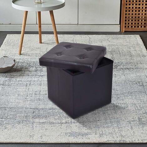Deetjen u. Meyer Sitztonne Premium Schwarz L Hocker Fußhocker Aufbewahrungstonne Box Sitzbank Sitzhocker