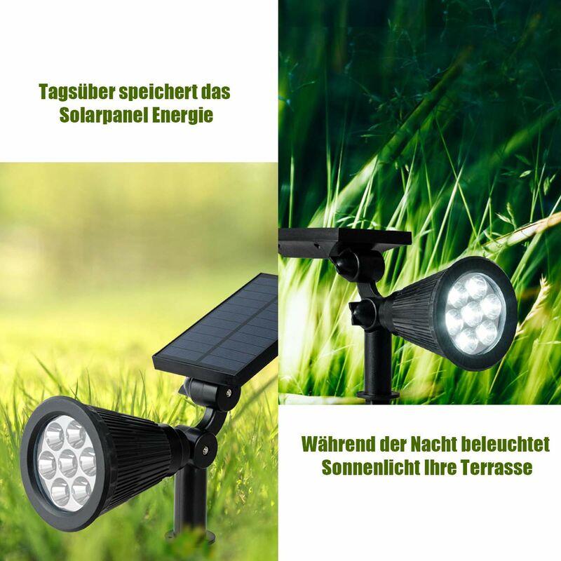 Gartenleuchten Solarlampen Solarstrahler Solarleuchte 4er Set