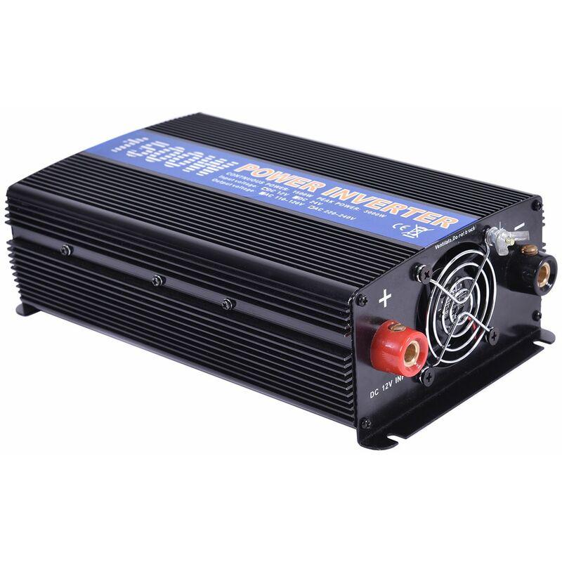 COSTWAY Spannungswandler Wechselrichter Inverter Stromwandler Welchselrichter Ladeger/äte 1500W 3000W 12V DC auf 220V AC mit USB-Anschlus