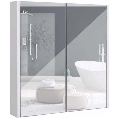 COSTWAY Spiegelschrank Badezimmer Badezimmerspiegelschrank ...