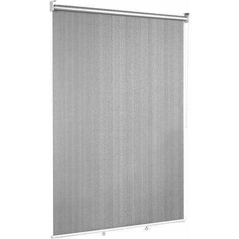COSTWAY Store Enrouleur Occultant de Fenêtre 121x181CM Semi-Obscur Isolant Thermique Anti-UV, Pare-soleil pour Blacon Gris