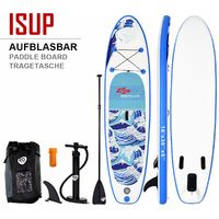 COSTWAY Sup-Board 305 x 80 x 15cm | Surfboard bis 200 kg | Paddelboard mit Pumpe | Paddelbrett mit Alu-Paddel | Stand up Board Set