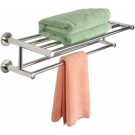 Costway support de serviette salle de bain porte - Porte serviette salle de bain mural ...