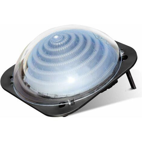 COSTWAY Système de Chauffage Solaire pour Piscine en PP,PC,PE avec 2 Supports Pliants pour Augmenter la Température de l'Eau