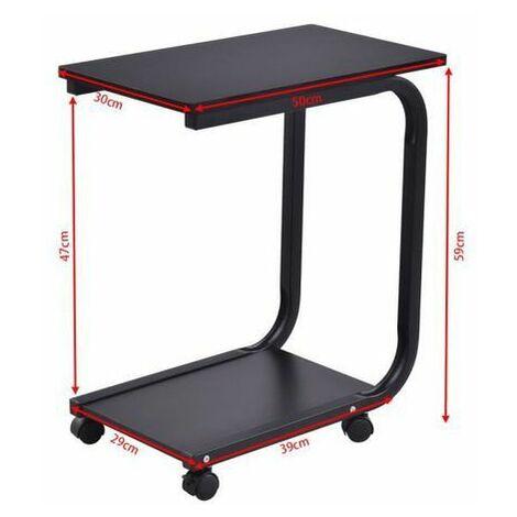Costway Table D Appoint Lit Canape Avec 4 Roues Roulant A 360 2