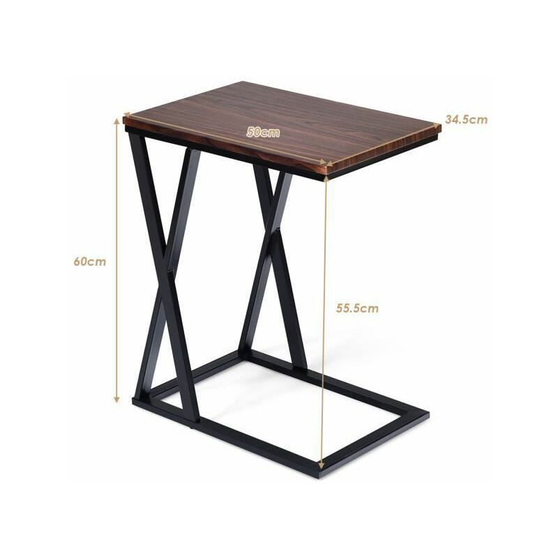 Costway Table D Appoint Table Basse De Salon Petite Desserte Bout