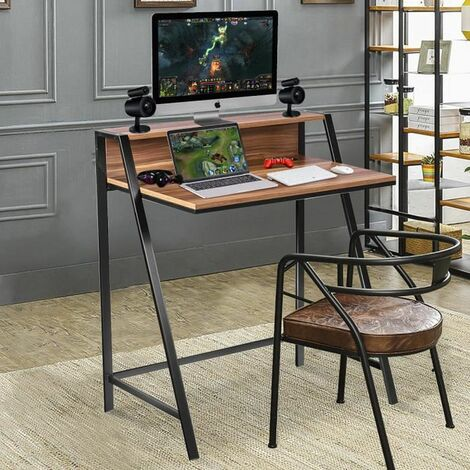 COSTWAY Table de Bureau pour Ordinateur
