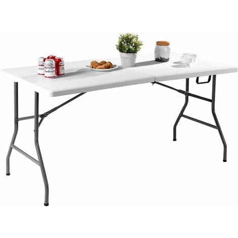 COSTWAY Table de Camping Table Pliante Table Jardin Blanche ...