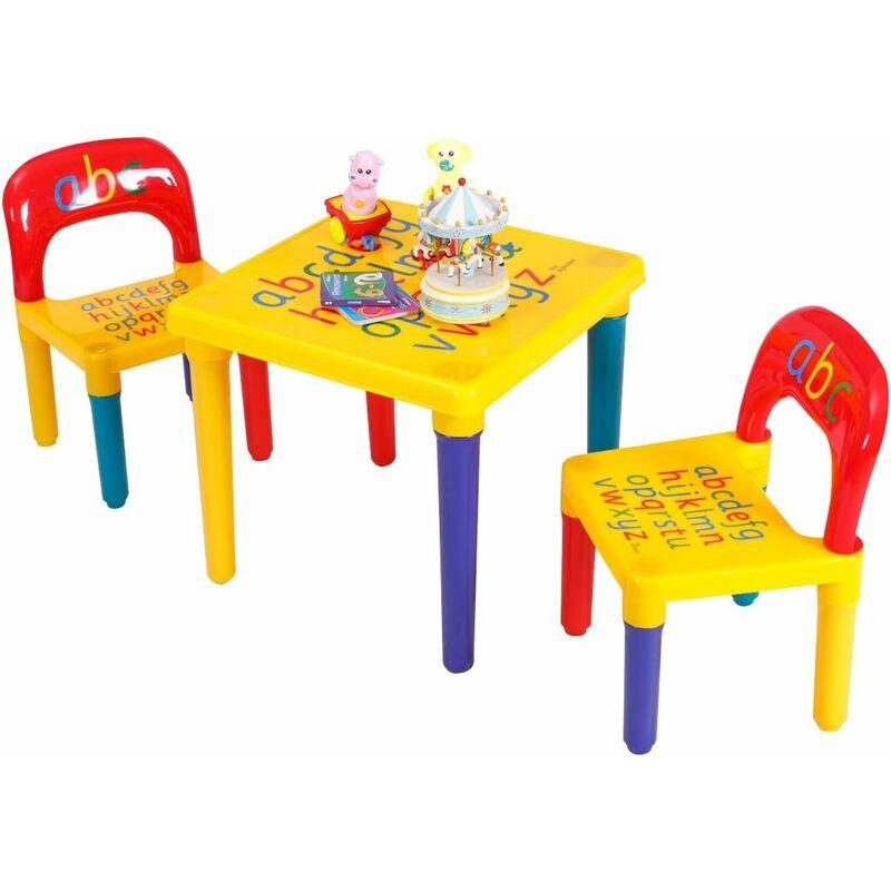 costway table et chaises pour enfant en plastique diy abc. Black Bedroom Furniture Sets. Home Design Ideas