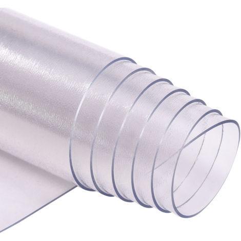 COSTWAY Tapis Protège Sol Antidérapant en PVC pour Parquet Stratifié Tapis de Bureau pour Chaise Fauteuil 150x120cm
