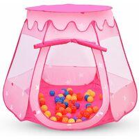 Costway Tente De Jeu Pour Enfants Maison Jouet Bébé Pop Up 100 Boules A Picines à Boules