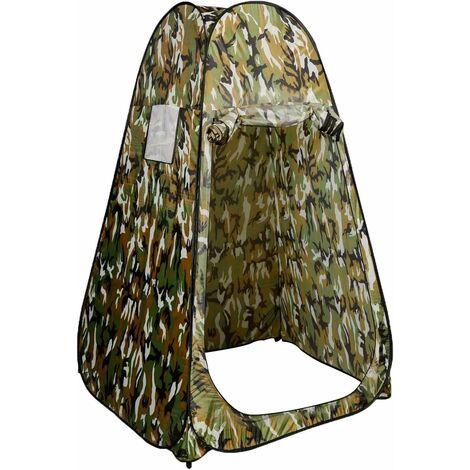 COSTWAY Tente de Toilette Tente de Douche Portable 120 x 120 x 190 cm Portable pour Camping Randonnée de Bain Camouflage