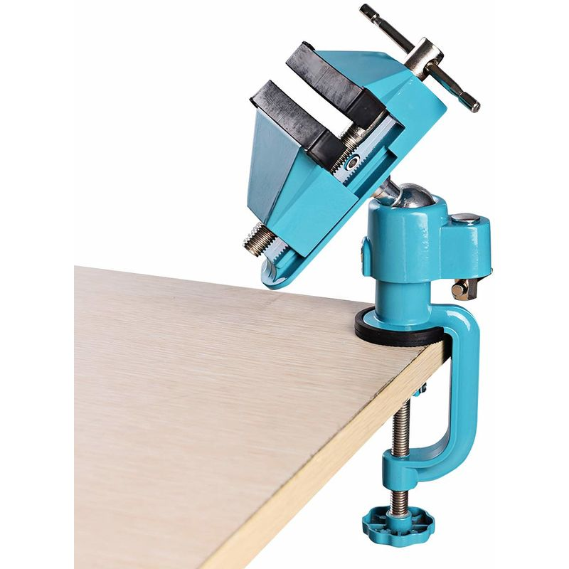 Tischschraubstock Mini Tisch Schraubstock Werkbank Bankschraubstock 360/° drehbar schwenkbar Aluminiumlegierung 0-60mm