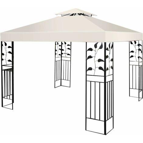 COSTWAY Toile de Rechange en Polyester Impérméable de Jardin pour Pavillon Tonnelle 3 x 3 M Tente Beige