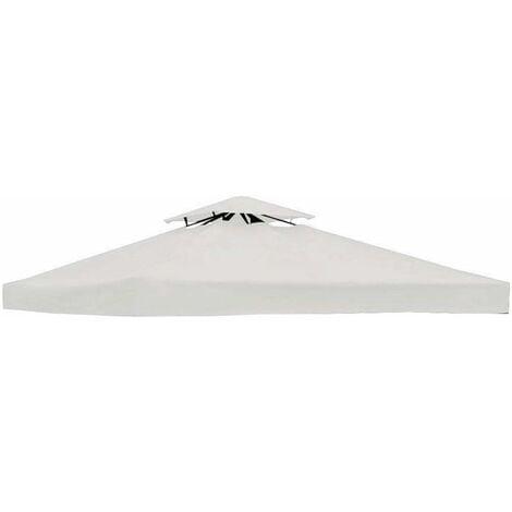 COSTWAY Toile de Rechange pour Pavillon Toile de Toit pour Tente Canopée pour Tonnelles 300 x 300 cm Beige