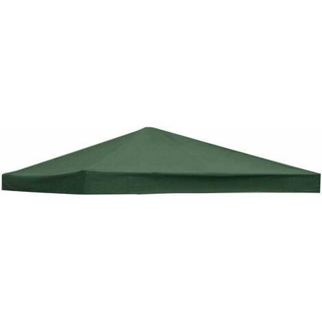 COSTWAY Toile de Rechange pour Pavillon Toile de Toit pour Tente Canopée pour Tonnelles 300 x 300 cm Encre Verte
